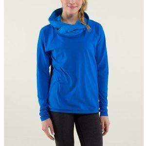 Lululemon Healthy Heart Blue Cowl Neck Pullover